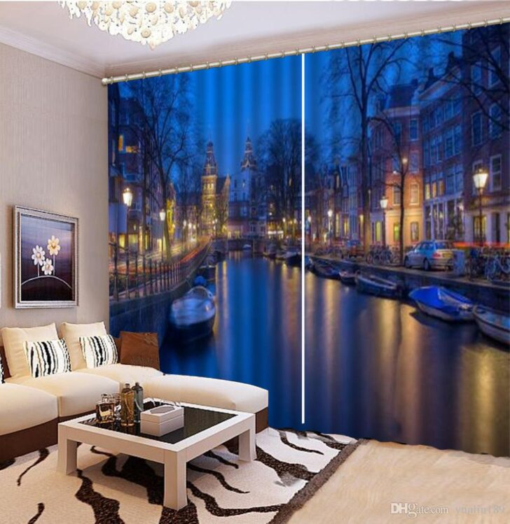 Medium Size of Vorhänge Wohnzimmer Vorhang Dreamy City Night 3d Landschaft Vorhnge Led Teppiche Schlafzimmer Komplett Lampe Fürs Liege Stehlampe Wandtattoos Indirekte Wohnzimmer Vorhänge Wohnzimmer