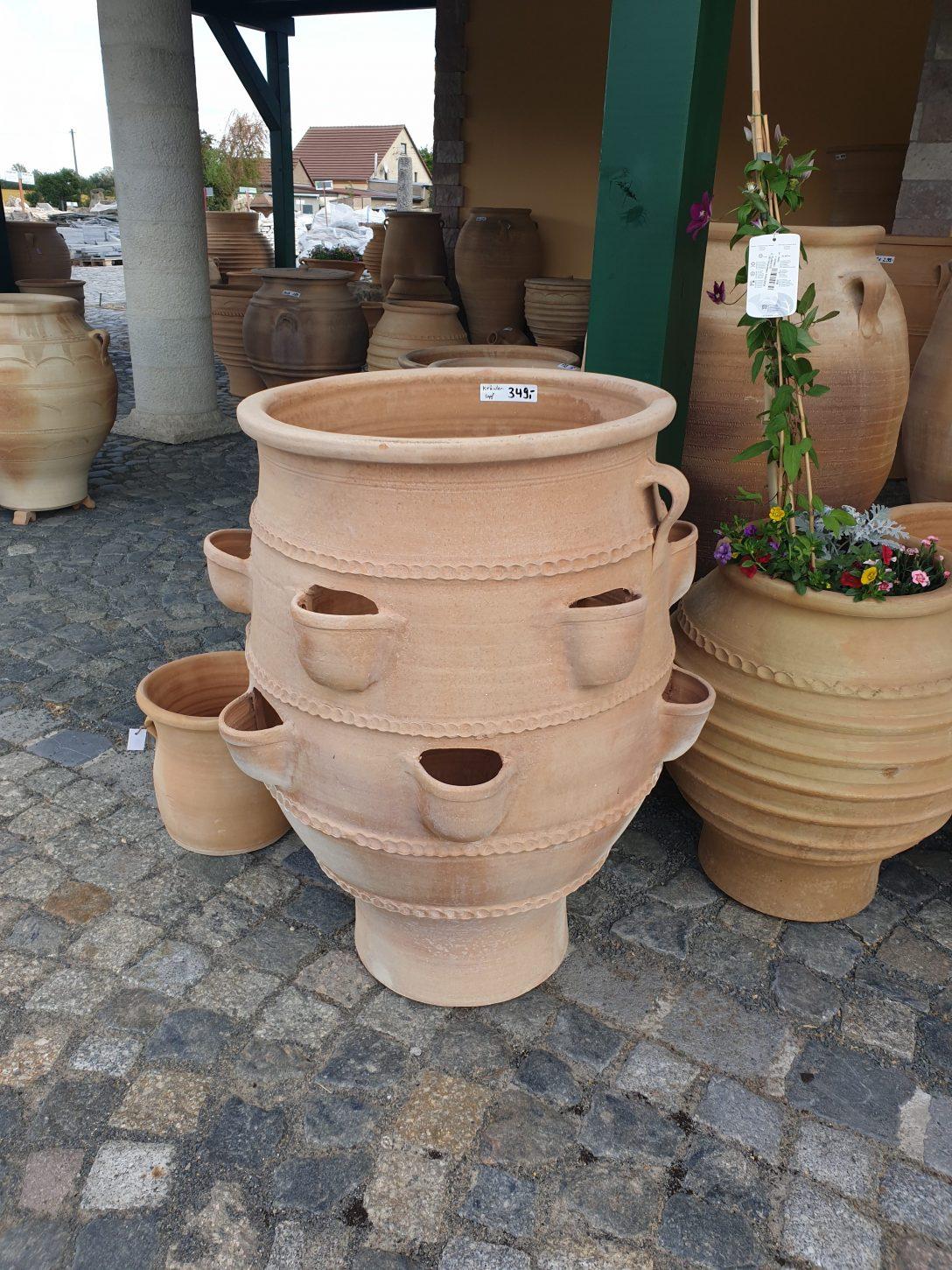 Large Size of Kräutertopf Krutertopf Pflanztopf Keramik Naturstein Centrum Lpm Küche Wohnzimmer Kräutertopf