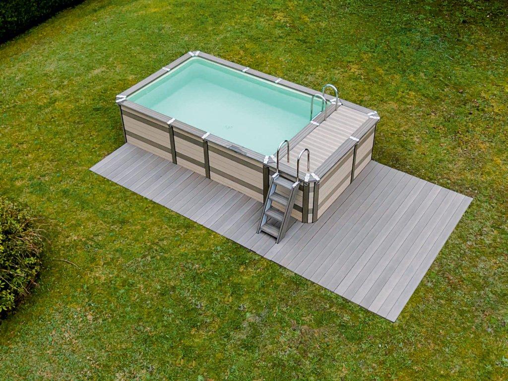 Full Size of Gartenpool Rechteckig Minipool Geht Auch Auf Dem Dach Schwimmbadde Wohnzimmer Gartenpool Rechteckig