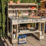 Outdoor Waschbecken Grilltisch Aus Paletten Palettenmbel Selber Bauen Kaufen Kche Bad Küche Badezimmer Keramik Edelstahl Wohnzimmer Outdoor Waschbecken