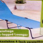 Rapemeldung Mangelnde Stabilitt Bei Dreibein Liege Der Marke Relaxsessel Garten Aldi Wohnzimmer Sonnenliege Aldi