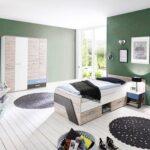 Jungen Kinderzimmer Kinderzimmer Kinderzimmer Set Fr Jungen In Sandeiche Nb Mit Wei Regale Regal Weiß Sofa