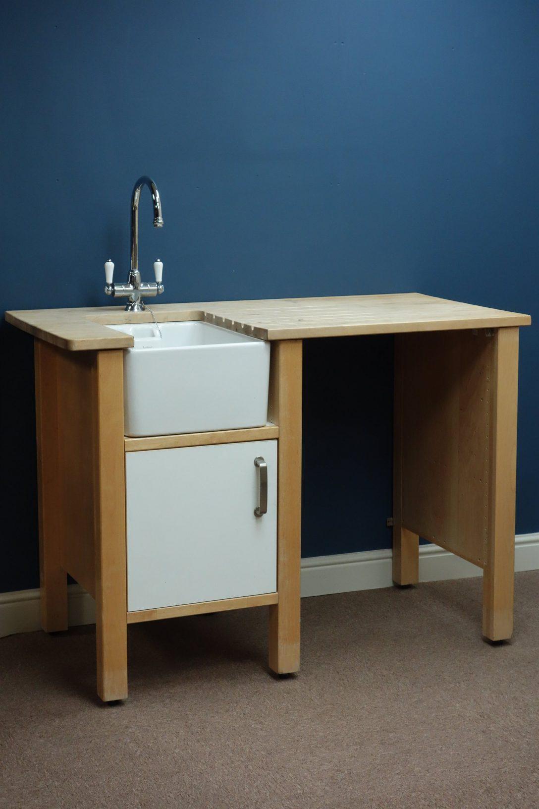 Large Size of Ikea Värde Varde Beech And White Finish Kitchen Sink Unit With Belfast Küche Kosten Sofa Mit Schlaffunktion Miniküche Modulküche Betten 160x200 Bei Kaufen Wohnzimmer Ikea Värde