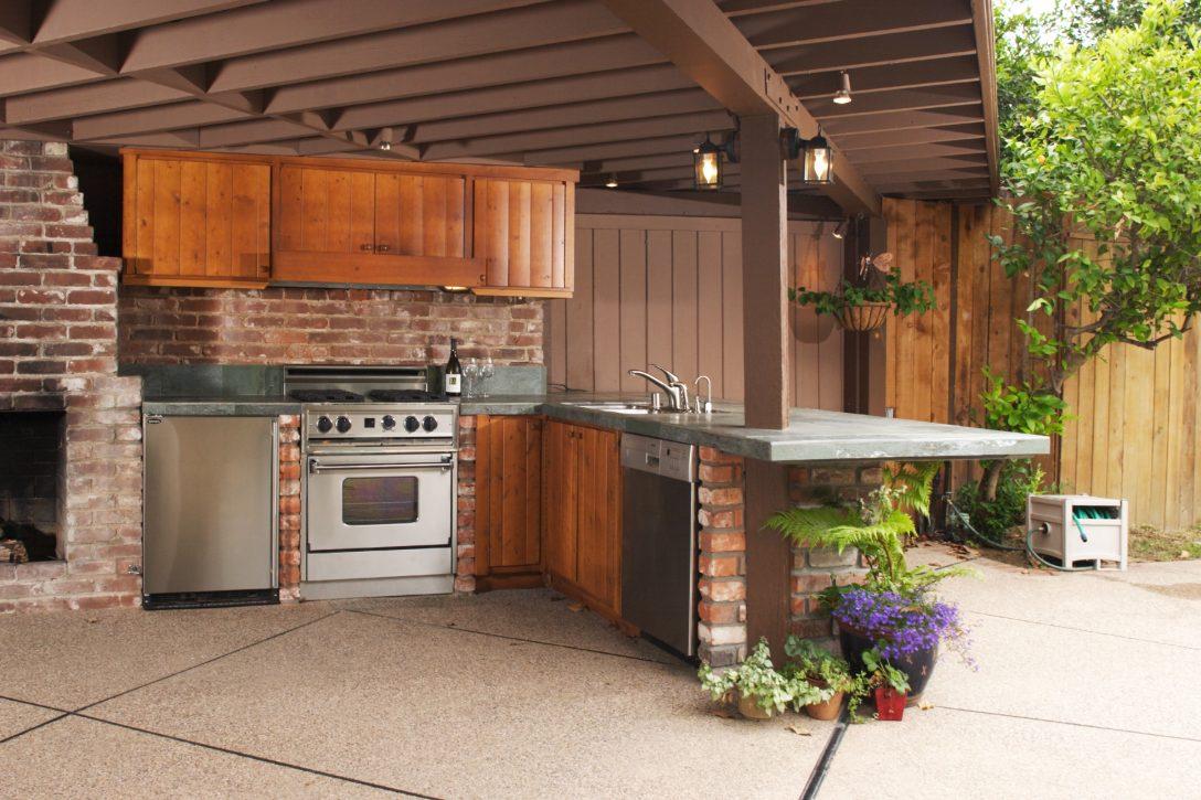 Large Size of Outdoor Küche Kche So Kocht Es Sich Drauen Wie Drinnen Einbauküche Günstig Spüle Armatur Landhausküche Teppich Grifflose Nobilia Anrichte Vinylboden Wohnzimmer Outdoor Küche
