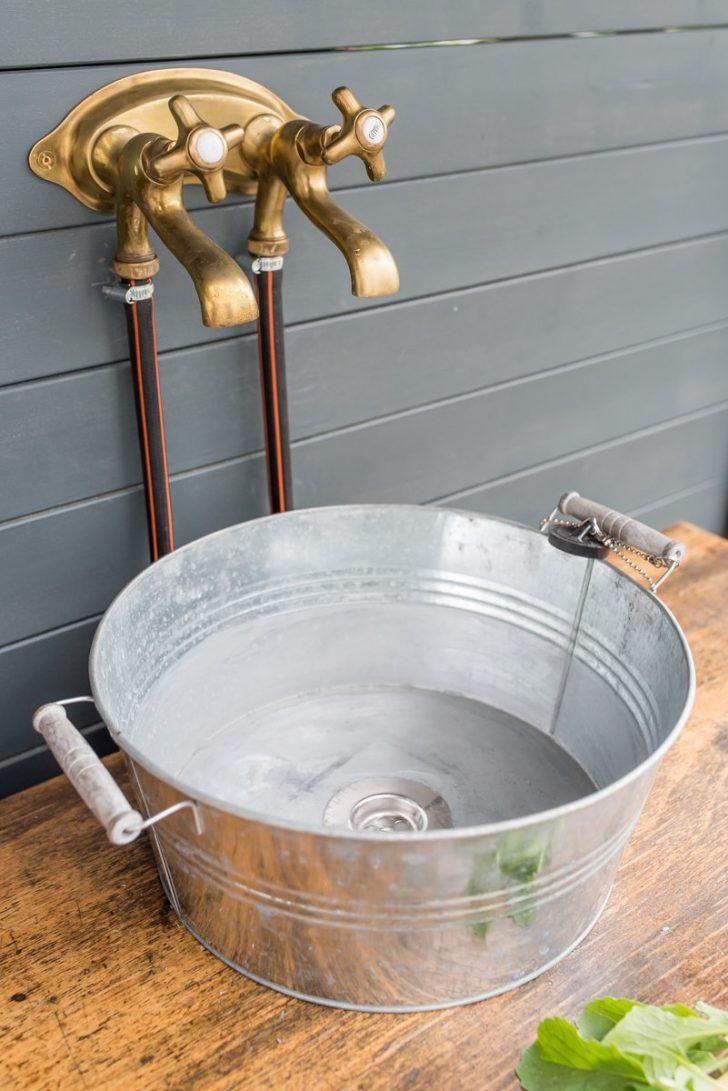 Medium Size of Outdoor Waschbecken Diy Upcycling Kche Aus Einer Werkbank Leelah Loves Küche Edelstahl Kaufen Bad Badezimmer Keramik Wohnzimmer Outdoor Waschbecken