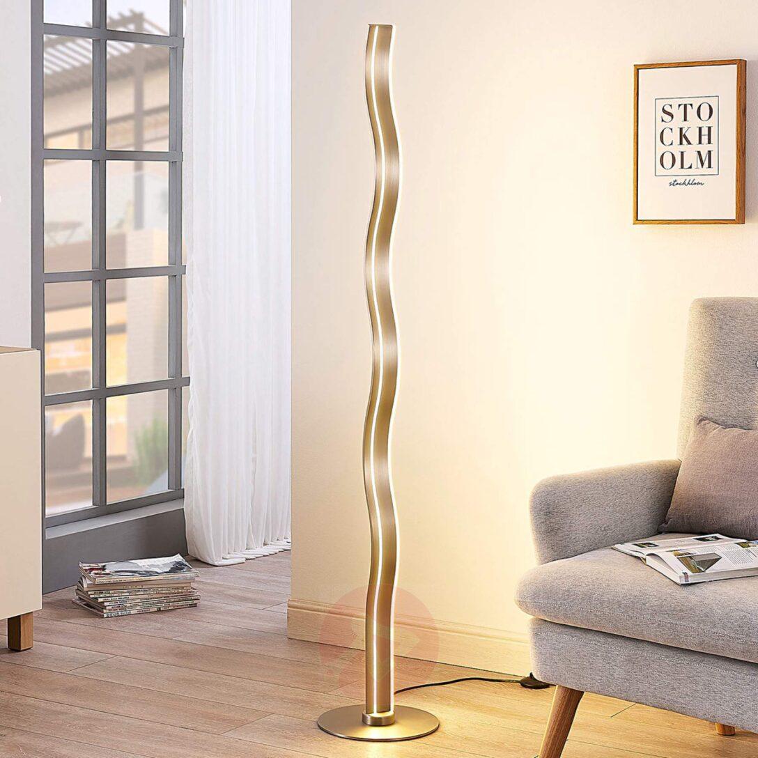 Large Size of Bro Schreibwaren Led Stehlampe Auron Lampenwelt Wellenfrmig Moderne Bilder Fürs Wohnzimmer Deckenleuchte Tapete Küche Modern Stehlampen Schlafzimmer Modernes Wohnzimmer Stehlampe Modern