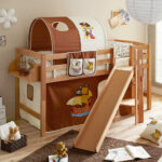 Piraten Kinderzimmer Kinderzimmer Braunes Piraten Hochbett Aus Buche Mit Podest Und Schrger Rutsche Regal Kinderzimmer Weiß Sofa Regale