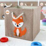 Aufbewahrungsboxen Kinderzimmer Kinderzimmer Kinderzimmer Aufbewahrungsbospielzeugbomit Fuchs Motiv Regale Sofa Regal Weiß