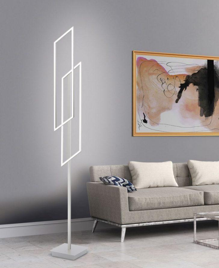 Medium Size of Led Stehleuchte In Stahl Mit Lichtfarbsteuerung Und Infrarot Moderne Deckenleuchte Wohnzimmer Modernes Bett 180x200 Küche Holz Modern Deckenlampen Tapete Wohnzimmer Stehlampen Modern