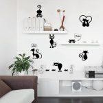Küchentapeten Wohnzimmer Wandaufkleber Katze
