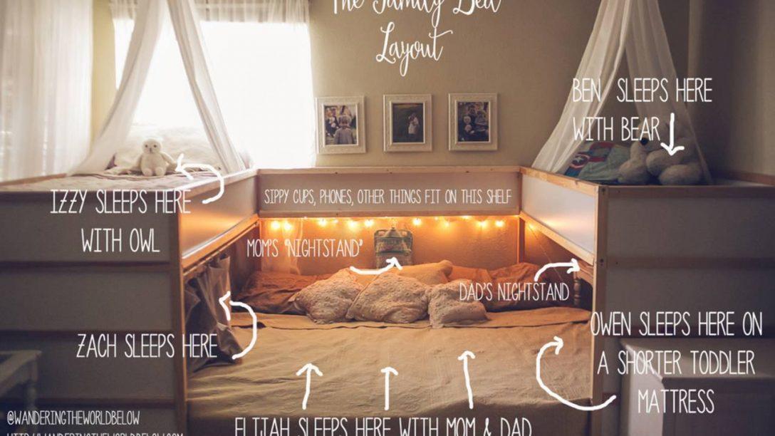 Large Size of Familienbett Selber Bauen Ikea Hack Ist Das Gemtlichste Der Welt Bodengleiche Dusche Nachträglich Einbauen Bett 140x200 Einbauküche Kopfteil Machen Küche Wohnzimmer Familienbett Selber Bauen