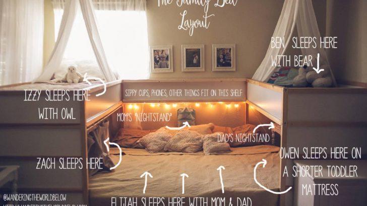 Medium Size of Familienbett Selber Bauen Ikea Hack Ist Das Gemtlichste Der Welt Bodengleiche Dusche Nachträglich Einbauen Bett 140x200 Einbauküche Kopfteil Machen Küche Wohnzimmer Familienbett Selber Bauen