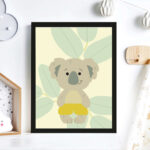 Bild Kinderzimmer Kinderzimmer Bild Kinderzimmer Print Illustration Poster Koala Wanddeko Regale Glasbilder Küche Wandbilder Wohnzimmer Regal Weiß Bad Sofa Moderne Bilder Fürs