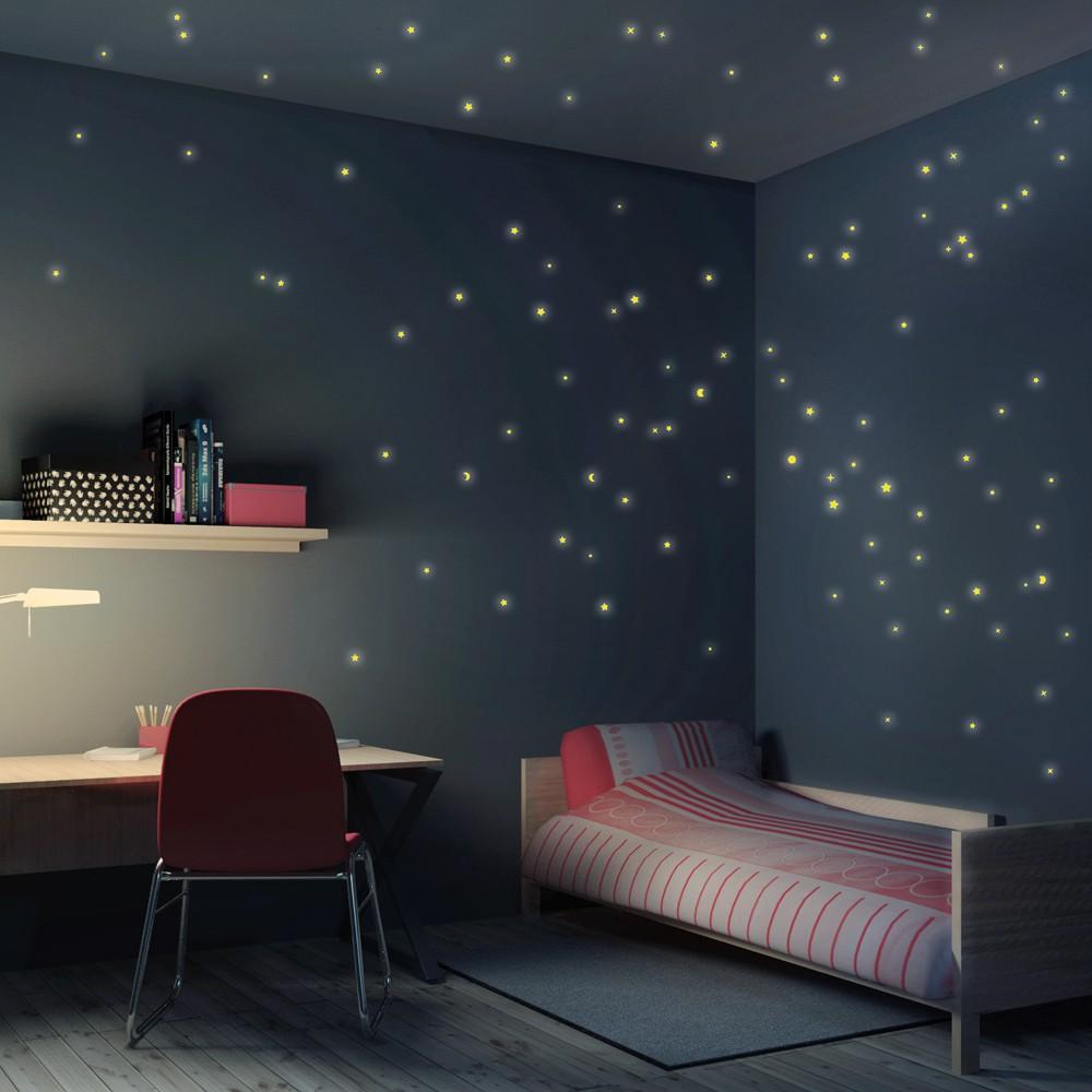 Full Size of Sternenhimmel Kinderzimmer Wandtattoo 100er Set Regal Regale Weiß Sofa Kinderzimmer Sternenhimmel Kinderzimmer