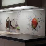Küchenrückwand Ideen Kchenrckwand Aus Glas Mit Motiv Home Design Bad Renovieren Wohnzimmer Tapeten Wohnzimmer Küchenrückwand Ideen