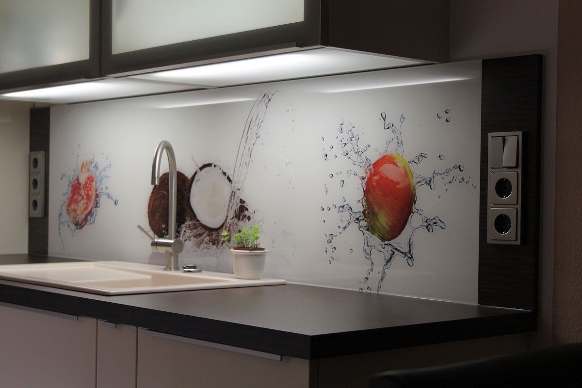 Full Size of Küchenrückwand Ideen Kchenrckwand Aus Glas Mit Motiv Home Design Bad Renovieren Wohnzimmer Tapeten Wohnzimmer Küchenrückwand Ideen