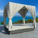 Outdoor Bett Wohnzimmer Outdoor Bett Lounge Mit Vorhang Poly Rattan Grau Gitoparts Bettkasten 160x200 Möbel Boss Betten Ausgefallene Günstig Ottoversand Einfaches Trends Boxspring