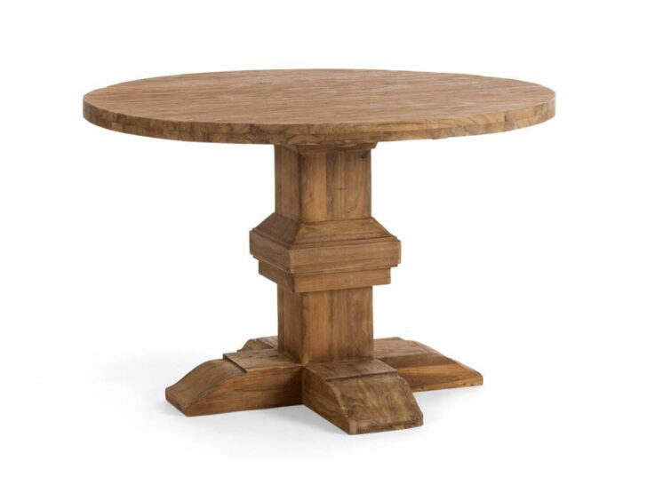 Medium Size of Runder Tisch Im Retro Design Aus Altholz Teak Massivholzmbel Esstisch Wildeiche Oval Rustikal Holz Kernbuche Mit 4 Stühlen Günstig Lampe Set Kolonialstil Esstische Altholz Esstisch