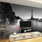 3d Tapete Wohnzimmer Telefon 3d Tapete Paris Turm Einfache Schwarzwei Küche Fototapeten Wohnzimmer Tapeten Für Die Fototapete Schlafzimmer Fenster