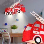 Lampen Für Kinderzimmer Jungen Leuchte Feuerwehr Auto Beleuchtung Spiel Zimmer Kinder Led Wohnzimmer Regal Ordner Sichtschutz Fenster Laminat Küche Kinderzimmer Lampen Für Kinderzimmer
