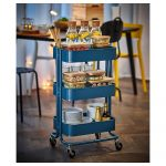 Ikea Küchenwagen Rskog Servierwagen Dunkelblau Küche Kaufen Sofa Mit Schlaffunktion Betten 160x200 Bei Kosten Modulküche Miniküche Wohnzimmer Ikea Küchenwagen