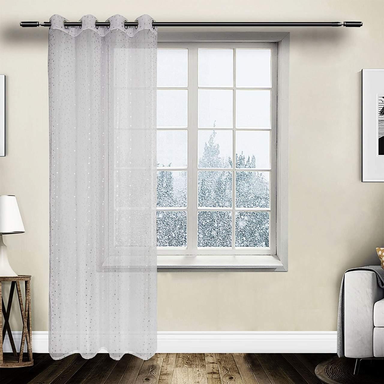 Full Size of Kurze Gardinen Vorhang Transparent Sen Mit Sternenlicht Muster Für Die Küche Fenster Wohnzimmer Scheibengardinen Schlafzimmer Wohnzimmer Kurze Gardinen