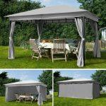 Gartenpavillon Metall Wohnzimmer Pavillon Metall Glas Schweiz Wasserdicht Mit Festem Dach Rund 3 X 5 Gartenpavillon 3x3m 3x4m Partyzelt Regale Regal Weiß Bett