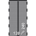 Schellenberg Insektenschutz Magnetvorhang 120x140 Cm Fenster Fliegengitter Maßanfertigung Für Magnettafel Küche Wohnzimmer Fliegengitter Magnet