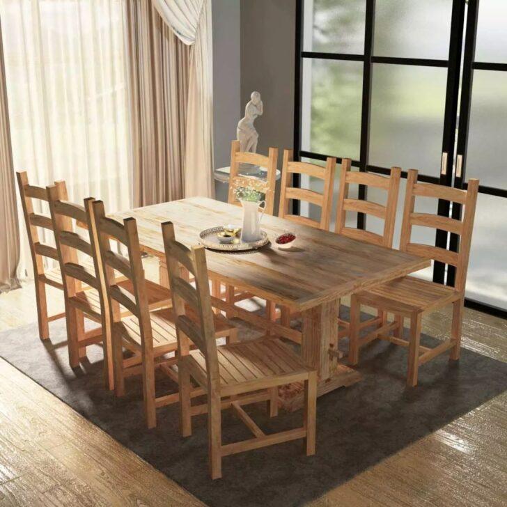Medium Size of Esstisch Rund Mit Stühlen 9 Tlg Essgruppe Tisch Sthlen Teak Gitoparts Big Sofa Hocker Küche E Geräten Günstig Kleiner Bettfunktion Wildeiche Bett Esstische Esstisch Rund Mit Stühlen