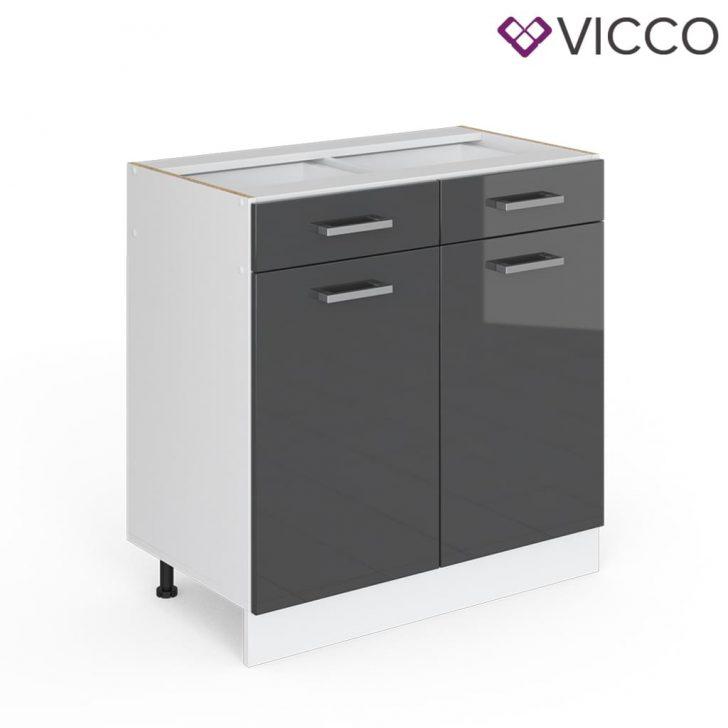Medium Size of Vicco Schubunterschrank 80 Cm Ohne Arbeitsplatte Real Wohnzimmer Küchenunterschrank