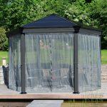 Pavillon Rund 3 5m Wasserdicht Glas Drehbar Pool Holz Eisen Pavillion Metall Pavilion Ersatzdach Aus Glasdach Gartenpavillon Palram Aluminium Gazebo Roma Wohnzimmer Pavillon Rund