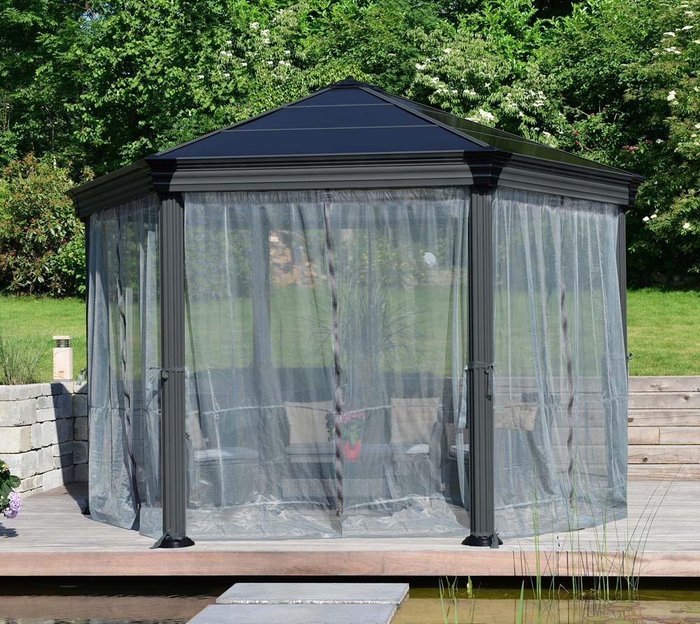 Full Size of Pavillon Rund 3 5m Wasserdicht Glas Drehbar Pool Holz Eisen Pavillion Metall Pavilion Ersatzdach Aus Glasdach Gartenpavillon Palram Aluminium Gazebo Roma Wohnzimmer Pavillon Rund