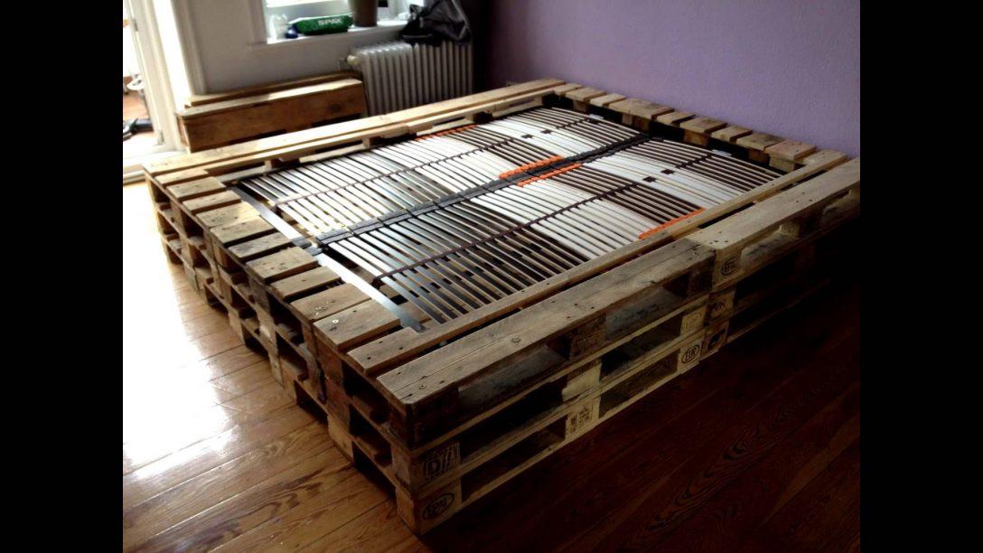 Large Size of Doppelbett Aus Europaletten Bett Paletten Hoch Eiche Massiv 180x200 Tojo V 1 40 Betten überlänge Komplett Mit Lattenrost Und Matratze 140x220 Somnus Ebay Wohnzimmer Bett Paletten