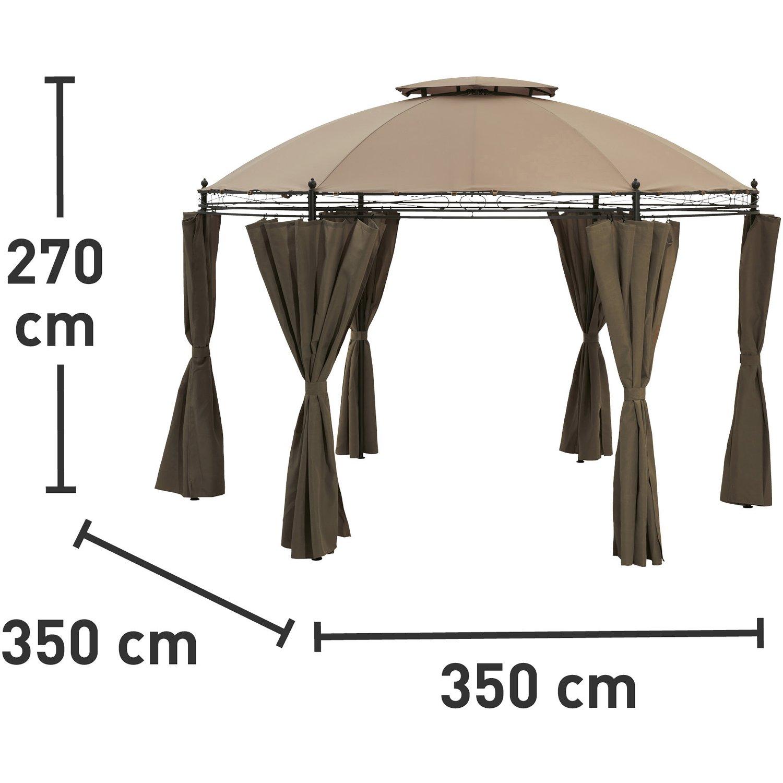 Full Size of Pavilion Rund Metall Ersatzdach Pavillon 3 5m 200 Cm 4 M 2 Holz Geschlossen Pool Beige Garten Glas Klein 3m Braga Braun 350 Kaufen Bei Obi Esstisch Ausziehbar Wohnzimmer Pavillon Rund