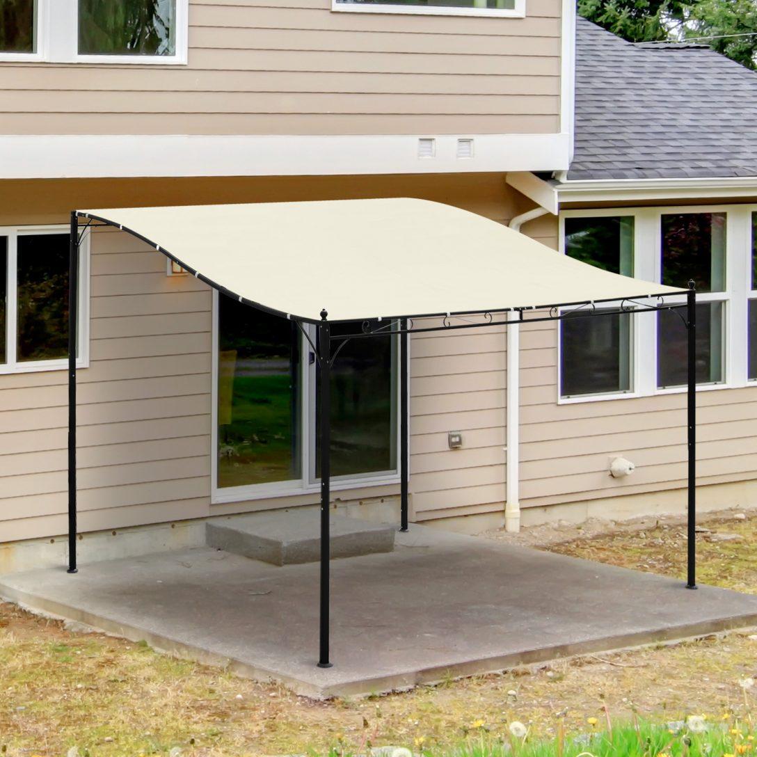 Large Size of Pergola Metall Outsunny Terrassenberdachung Pavillon 297x297cm Bett Garten Regal Weiß Regale Wohnzimmer Pergola Metall