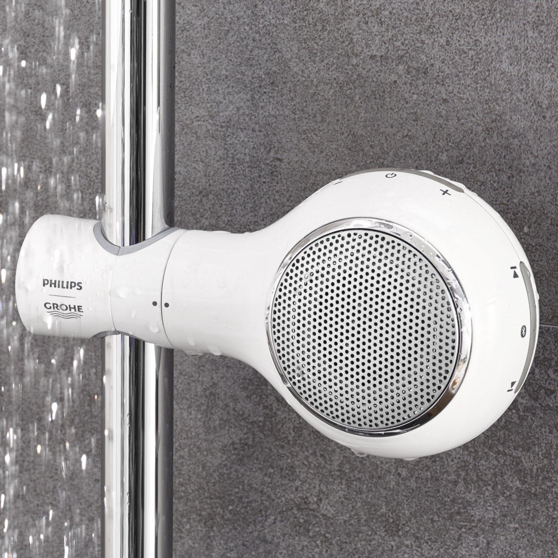 Full Size of Der Aquatunes Bluetooth Lautsprecher Fr Dusche Begehbare Ohne Tür Nischentür Bodengleich Walkin Bodengleiche Duschen Eckeinstieg Fliesen Für Unterputz Dusche Bluetooth Lautsprecher Dusche