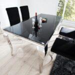 Esstisch Modern Esstische Esstisch Modern Casa Padrino Designer 180 Cm Schwarz Silber Rustikaler Küche Holz Esstische Massiv Kleiner Stühle Musterring Betonplatte Rustikal Glas 80x80