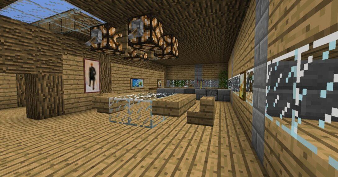 Large Size of Minecraft Küche Esszimmer Mit Integrierter Kche In Bauen Arbeitstisch Schreinerküche Insel Mischbatterie Servierwagen Inselküche Theke Single Niederdruck Wohnzimmer Minecraft Küche