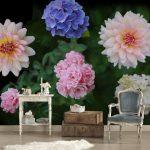 Fototapete Blumenwiese Blumen Vintage Aquarell Vlies Rosa Weiss Schlafzimmer Kaufen 3d Bunte Komar Rosen Dunkel Fototapeten Küche Wohnzimmer Fenster Wohnzimmer Fototapete Blumen