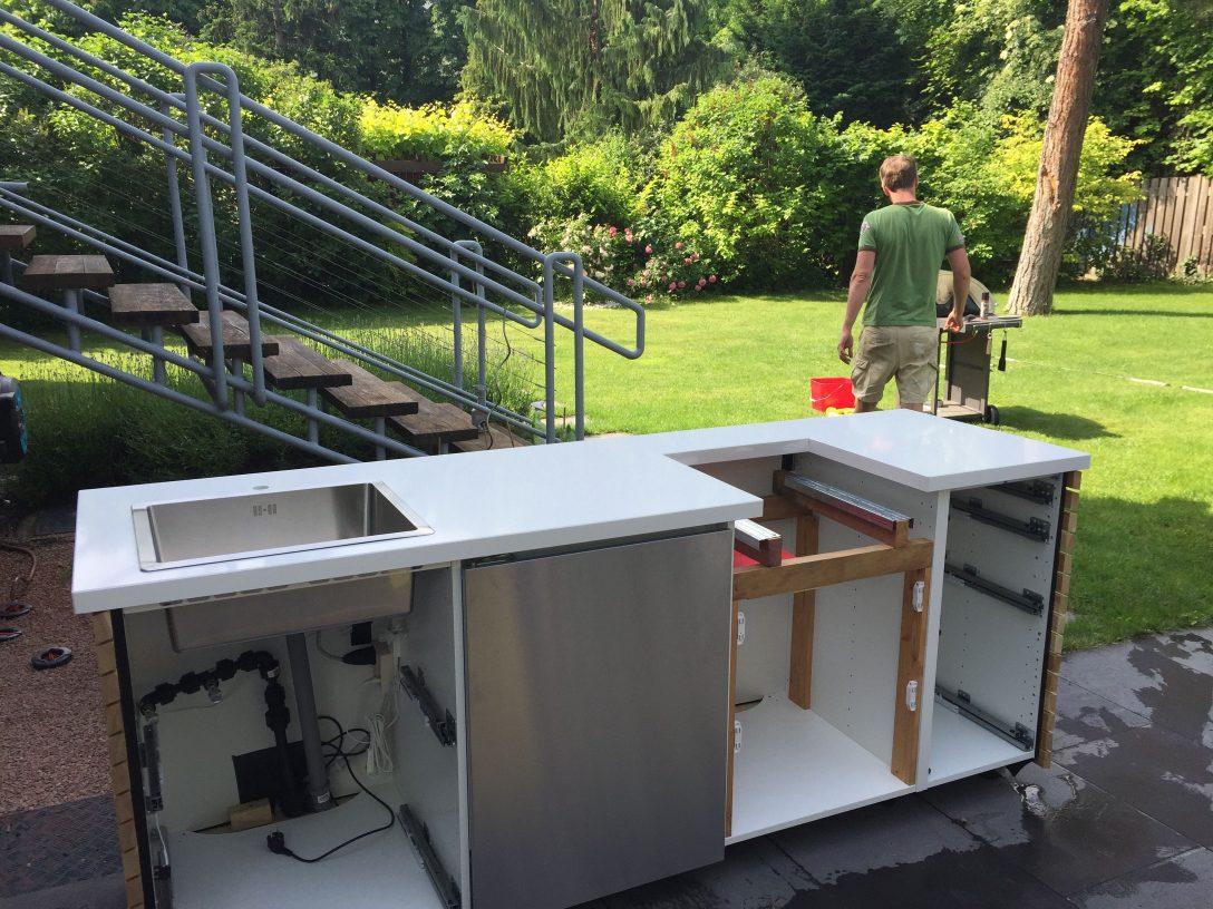 Large Size of Outdoor Küche Diy Outdoorkche Ikea Hack Kche Selber Bauen Mit E Geräten Günstig Holz Modern Wasserhähne Kaufen Einzelschränke Glaswand Vorhänge Wohnzimmer Outdoor Küche