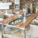 Der Tischonkel Designertisch Massivholztisch Mit Glas Und Massivholz Bett Esstisch Küche Holz Modern Massiv Ausziehbar Kleiner Modulküche Sheesham Eiche Esstische Esstisch Holz