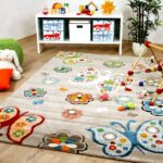 Teppiche Kinderzimmer Kinderzimmer Teppich Savona Kids Beige Schmetterlinge Bunt Teppiche Regale Kinderzimmer Regal Sofa Wohnzimmer Weiß