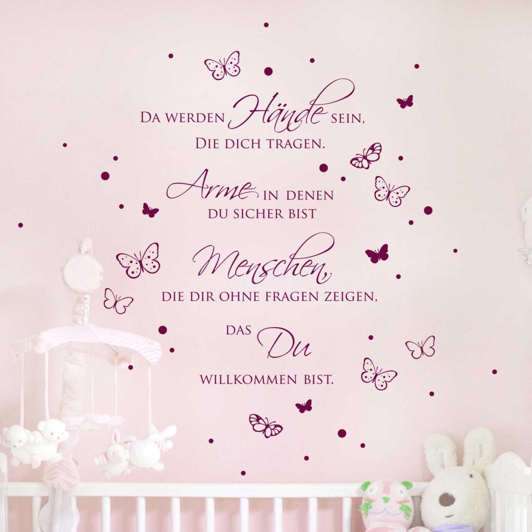 Large Size of Wandtatoo Kinderzimmer Wandtattoo Zitat Baby Spruch Da Werden Hnde Sein Mit Punkten Regal Regale Sofa Küche Weiß Kinderzimmer Wandtatoo Kinderzimmer
