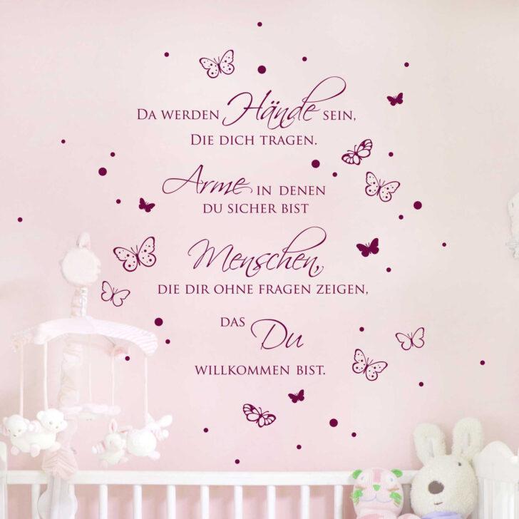 Medium Size of Wandtatoo Kinderzimmer Wandtattoo Zitat Baby Spruch Da Werden Hnde Sein Mit Punkten Regal Regale Sofa Küche Weiß Kinderzimmer Wandtatoo Kinderzimmer