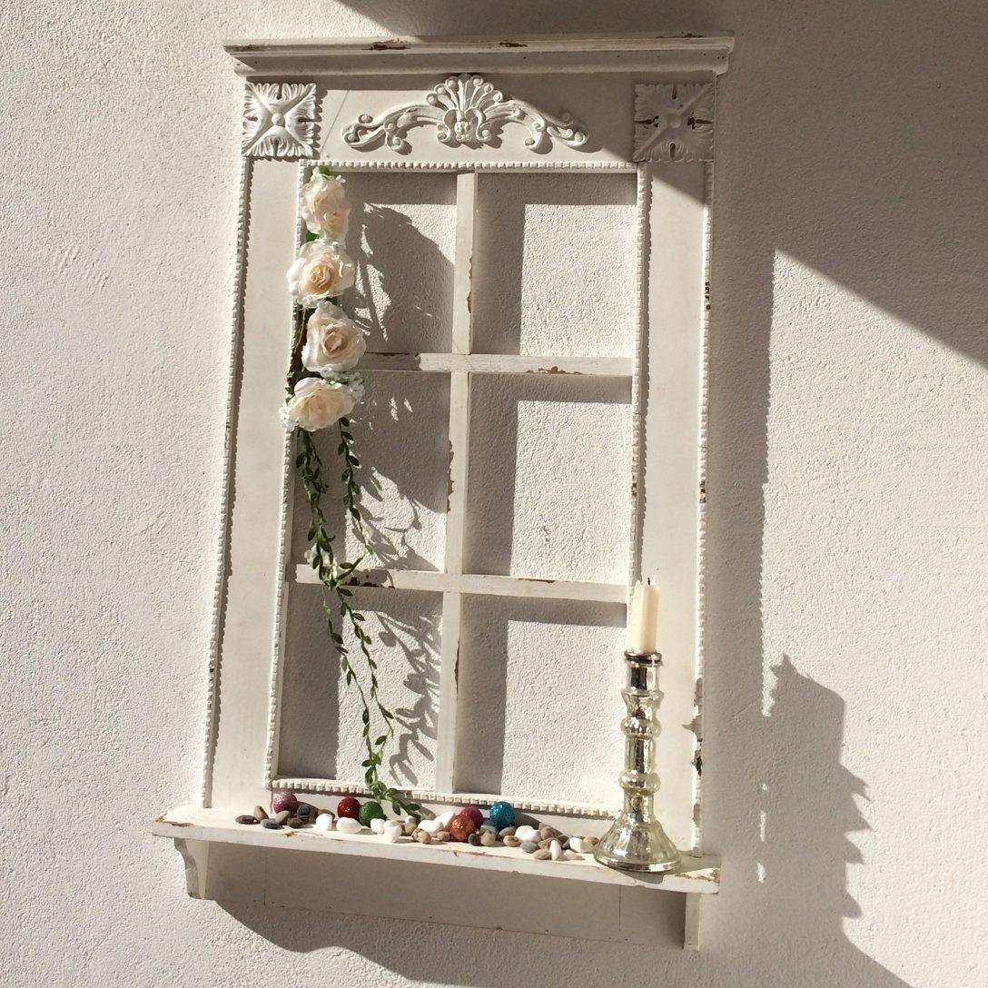 Large Size of Fensterbank Dekorieren Fenster Mit Im Antik Finish H 93 Cm Annastore Wohnzimmer Fensterbank Dekorieren