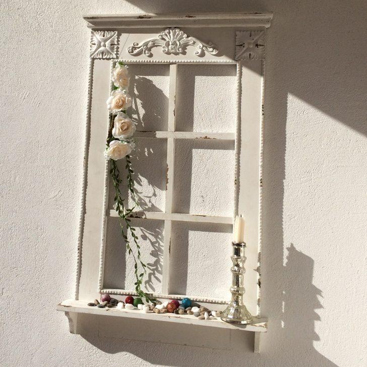Medium Size of Fensterbank Dekorieren Fenster Mit Im Antik Finish H 93 Cm Annastore Wohnzimmer Fensterbank Dekorieren
