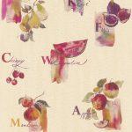 Küchentapete Kchen Tapete Rasch Frchte Kche Creme Pink 307511 Wohnzimmer Küchentapete