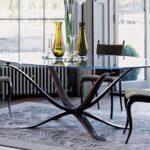 Glas Esstisch Esstische Klassischer Esstisch Glas Bronze Oval Caspian Villiers Bogenlampe 120x80 Rückwand Küche Deckenlampe Pendelleuchte Rustikaler Antik Kolonialstil Skandinavisch