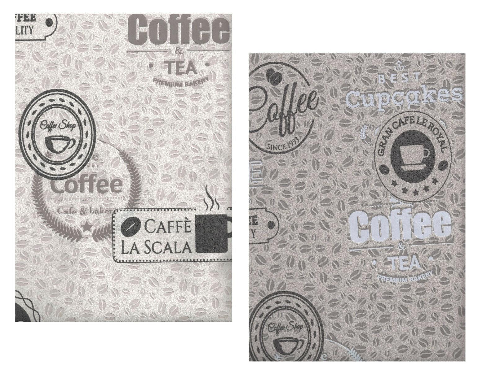 Full Size of Küchentapete Vliestapete Kaffeebohnen Coffee Cupcakes Kieselgrau Creme Braun Wohnzimmer Küchentapete