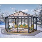 Gartenpavillon Metall Wohnzimmer Palram Pavillon Garda Grau Geschlossen Kaufen Bei Obi Regale Metall Regal Weiß Bett